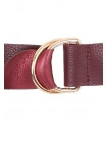 Womens Red Reversible Belt