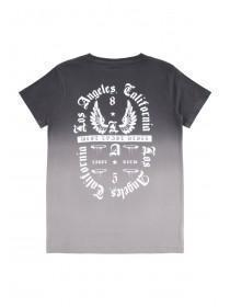 Older Boys Grey Dip Dye T-Shirt