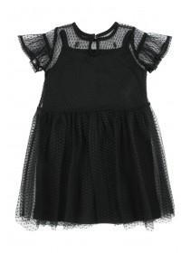 Younger Girls Mesh and Embroidered Dress