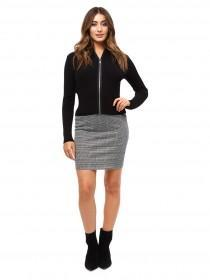 Jane Norman Grey Check Mini Skirt