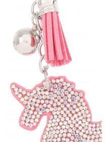 Pink Diamante Unicorn Keyring