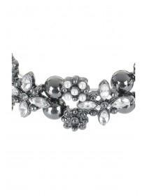 Womens Silver Diamante Bracelet