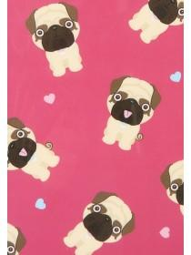 Womens Pink Pug Print S6 Phone Case