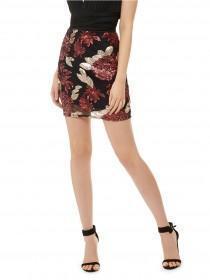 Jane Norman Berry Sequin Mini Skirt