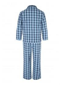 Mens Teal Long Check Pyjama Set
