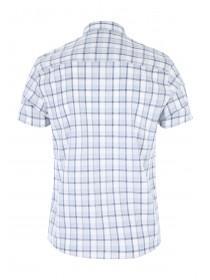 Mens Light Blue Check Shirt