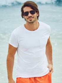 Mens White Slim Fit T-Shirt