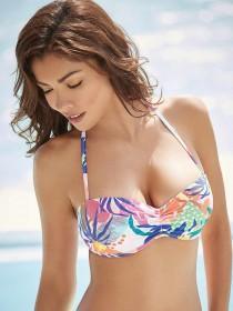 Womens White Moulded Bikini Top
