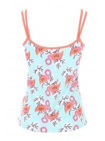 Womens Aqua Flamingo Cami