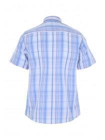 Mens White Polypeach Short Sleeve Shirt