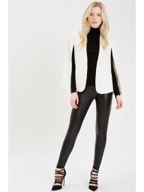 Jane Norman White Cape Blazer Jacket