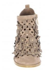 Older Girls Natural Floral Western Boots