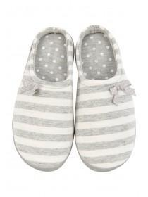 Womens Striped Comfort Support Slipper