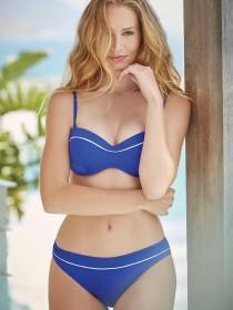 Womens Blue Textured Bikini Bottoms