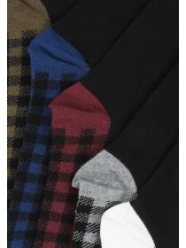 Mens 5PK Checkered Design Socks