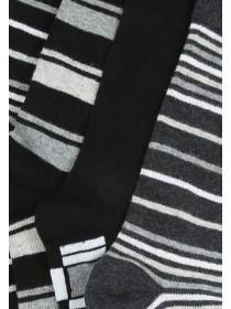 Mens Charcoal 5PK Design Socks