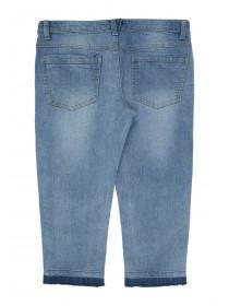 Older Girls Blue Capri Jeans
