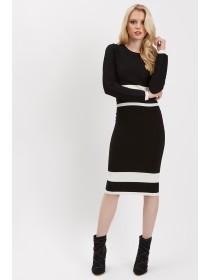 Jane Norman Mono Contrast Co-Ord Skirt