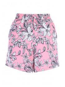Womens Pink Viscose Shorts