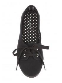 Womens Black Casual Lace Up Shoes