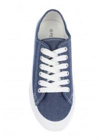 Womens Blue Casual Lace Up Shoes