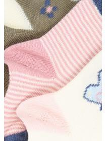 Baby Girl 3PK Botanical Socks