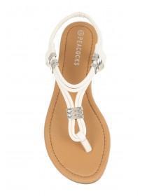 Womens White Sandals