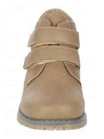 Younger Boys Khaki Velcro Strap Boot