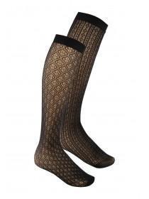 Womens 2PK Black Knee High Socks