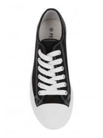 Womens Rubber Toe Lace Up Shoes