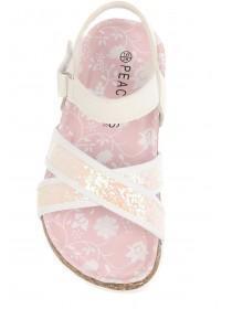 Younger Girls Glitter Strap Sandals