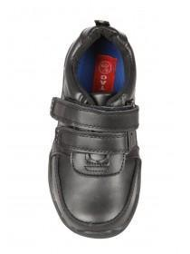 Young Boys Black Leather Action Boots
