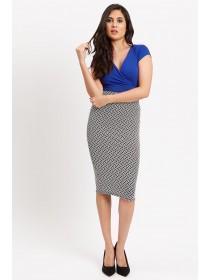 Jane Norman Mono Texture Skirt