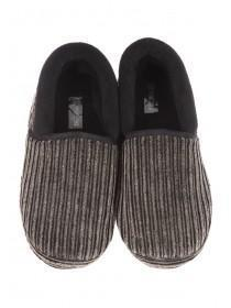 Mens Grey Super Soft Slippers