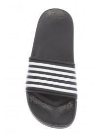 Younger Boys Black Pool Slider Sandals