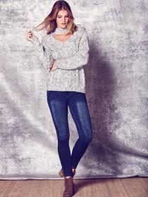 Womens Blue Skinny Alexa Jeans