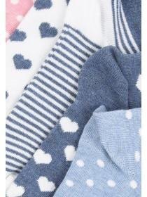Girls Blue 5PK Trainer Socks