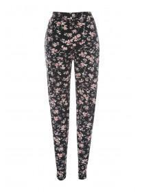 Womens Printed Pleat Front Trousers