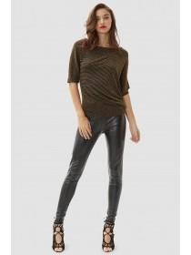 Jane Norman Black PU Essential Leggings