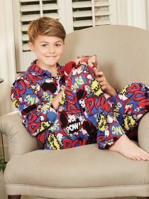 Older Boys Comic Print Pyjama Set