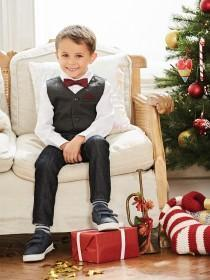 Younger Boys 3 Piece Grey Waistcoat and Shirt Set