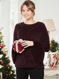 Womens Fluffy Bell Jumper