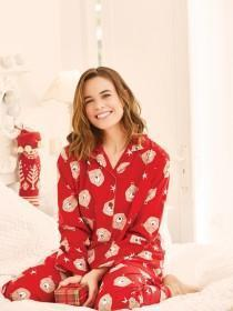Womens Bear Print Pyjama Set