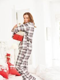 Womens Check Pyjama Set
