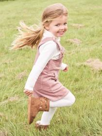 Younger Girls Pink Pinafore Dress