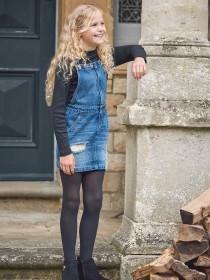 Older Girls Blue Dungaree Dress