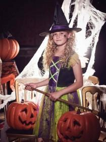 Kids Witch Dress Up Costume