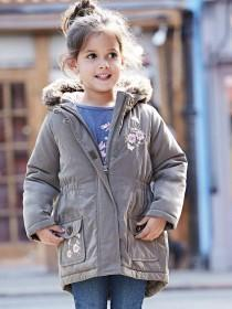 Younger Girls Khaki Parka Coat