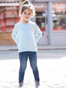 Younger Girls Aqua Cold Shoulder Jumper