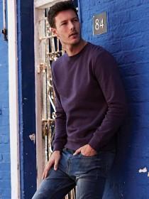 Mens Purple Basic Sweater